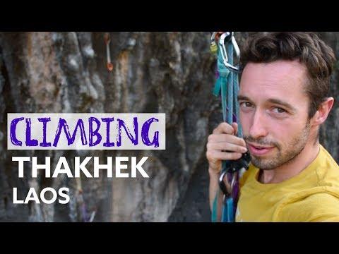 CLIMBING IN THAKHEK, LAOS