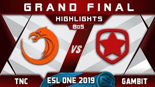 TNC vs Gambit Grand Final ESL One Hamburg 2019 Highlights Dota 2