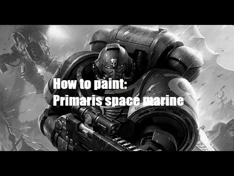 How to paint primaris space marine