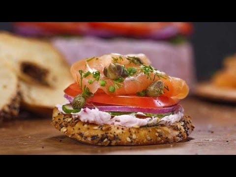 Everything Bagel Crisps With Everything Cream Cheese And Scottish Smoked Salmon Terrine