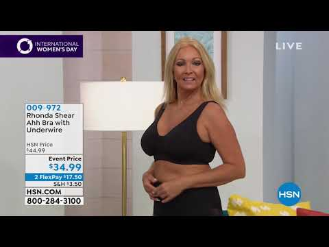 432883adce9 Rhonda Shear 2pack Ahh Bra with Underwire - YouTube