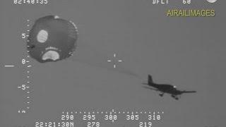Spectacular Aircraft Ditching with Parachute