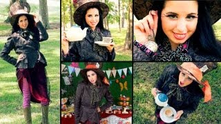 DIY Mad Hatter Costume, Come Along With Me Shopping Trip & Colorful Makeup!