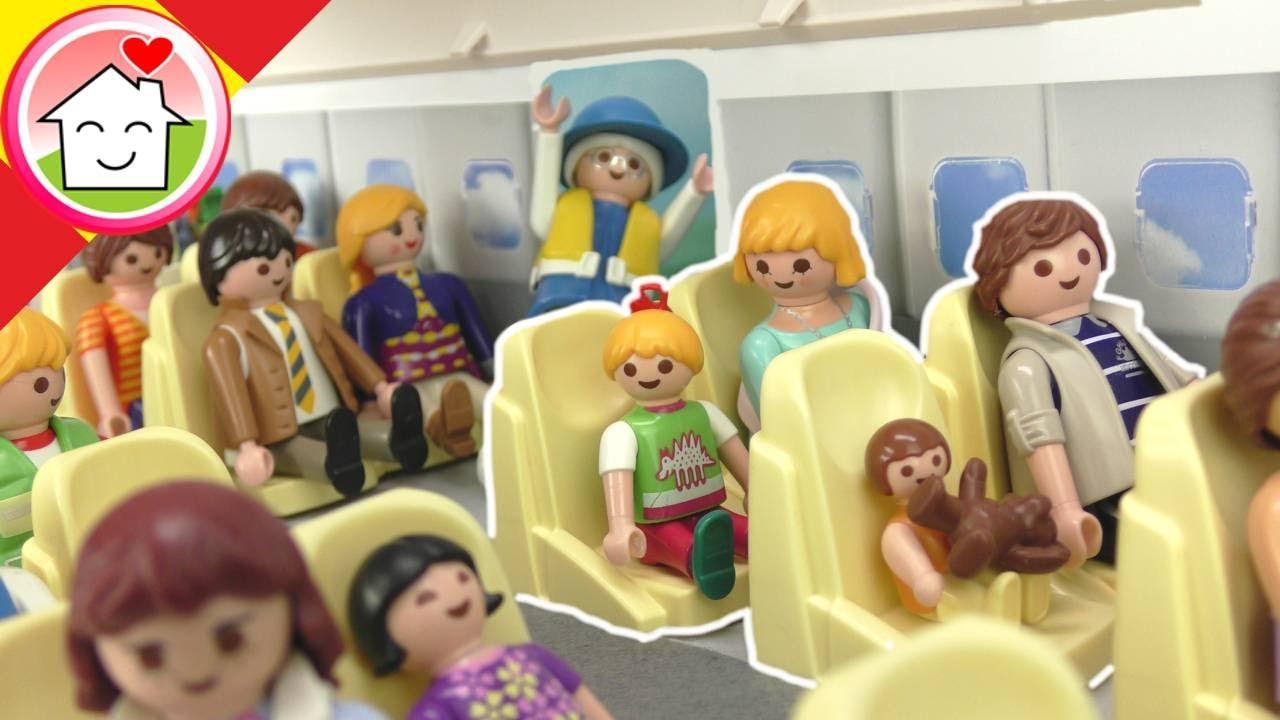 Playmobil en español La familia Hauser viaja en avión destino a Londres - La Familia Hauser