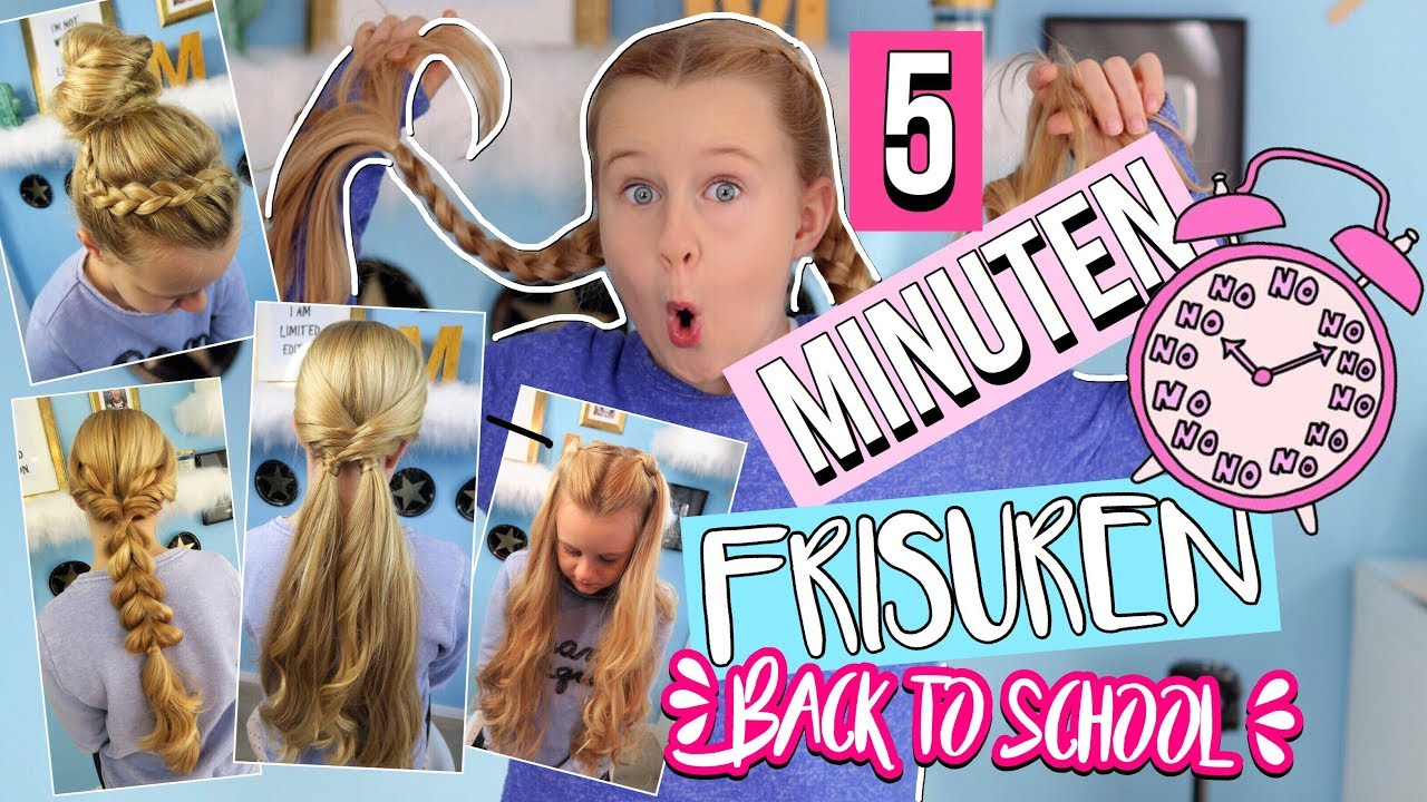 5 Minuten Frisuren Back To School Mavie Noelle Youtube