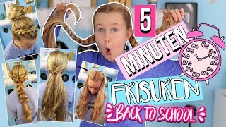 5 MINUTEN FRISUREN Back to school  | Mavie Noelle