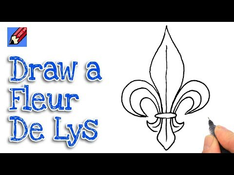 How To Draw A Fleur De Lys Real Easy