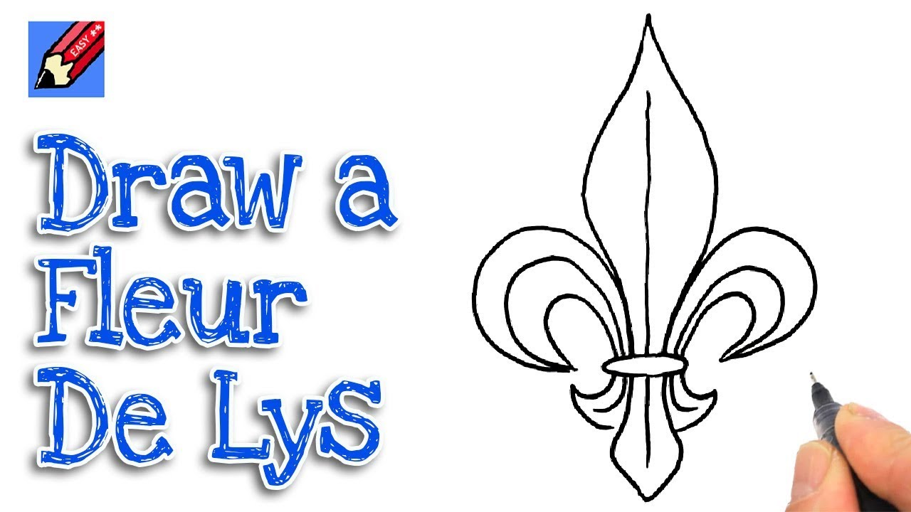 How To Draw A Fleur De Lys Real Easy Youtube