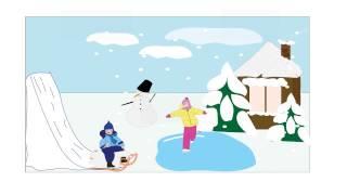 Развитие детей. Учим и запоминаем название зимних месяцев.