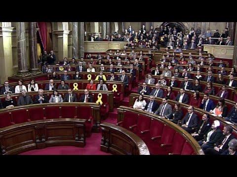 1ère session du Parlement catalan depuis le référendum