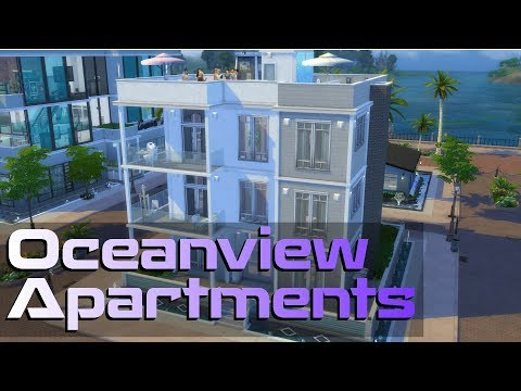 The Sims 4 | Oceanview Apartments - Apartment Building | Speed Build