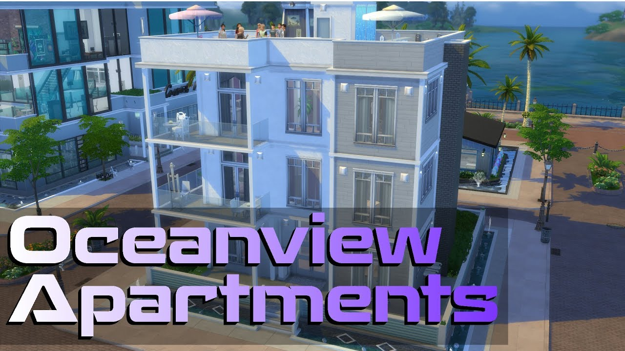 The Sims  Oceanview Apartments Apartment Building Speed Build