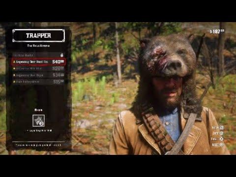 RDR2 Legendary Bear Hunting Trapper Location obtain Bear Head Hat Red Dead  Redemption 2 724cff99335d
