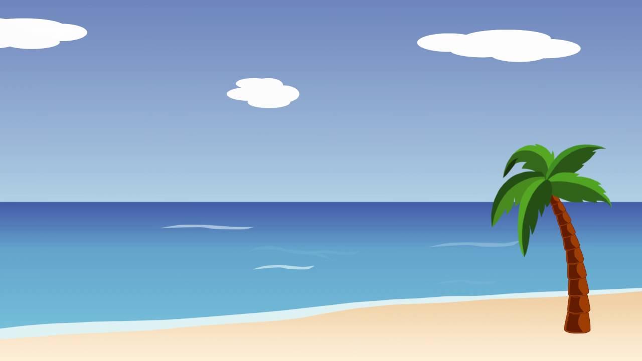 Animated Beach Scene Desktop Wallpaper: Animated Beach Scene