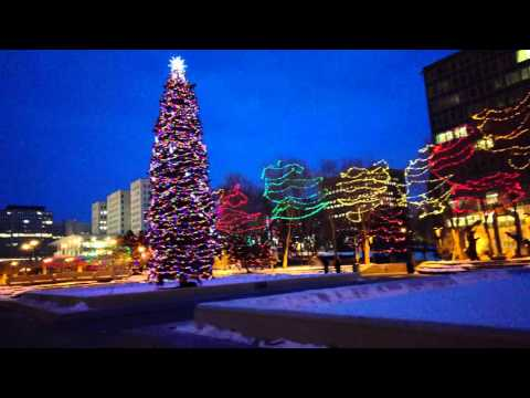 2015 Christmas Lights Up @ Edmonton Downtown