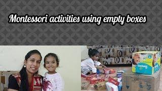 Montessori activities using empty boxes(8 months-3 Yrs baby)/Simple brain development activities