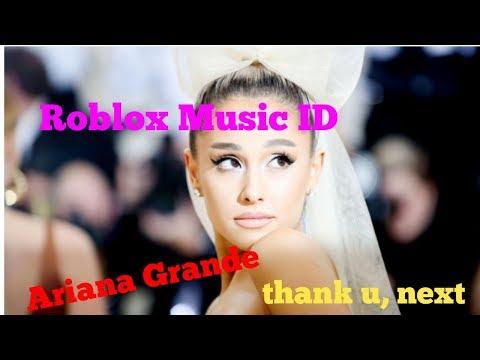 Ariana Grande Thank U Next Roblox Music Id Youtube - boombox roblox song codes thank u next