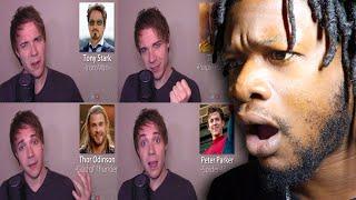 AVENGERS IMPRESSIONS! (Thor, Iron Man, Thanos, Black Panther, SpiderMan) REACTION