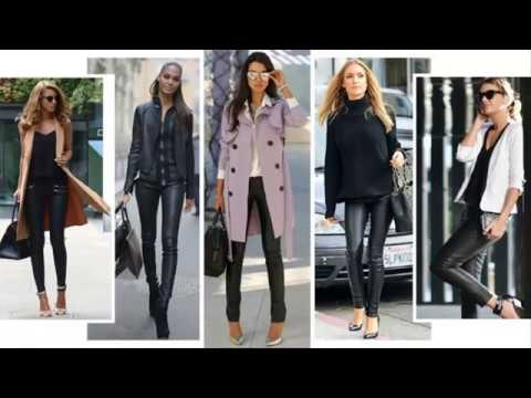 c0eeb385cffd02 Women Leather Pants street style 2018 - YouTube