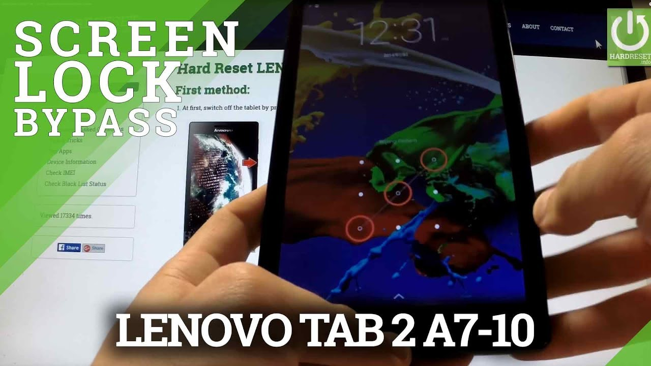 Factory Reset LENOVO Tab 2 A7-10 - HardReset info