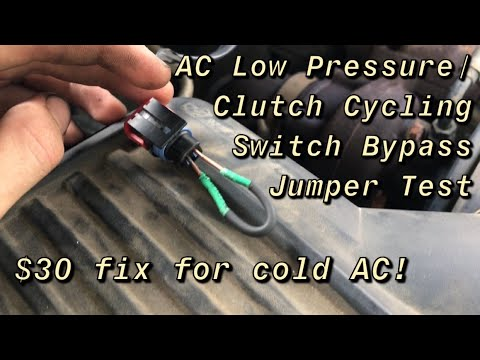 How To Test Ac Low Pressure Clutch Cycling Switch Youtube