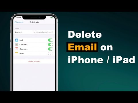 How do i remove an email account from my iphone 6