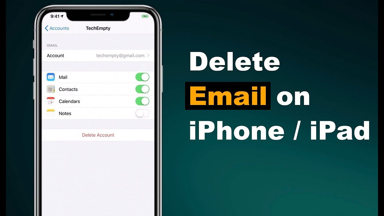 How to remove account from iphone 8