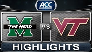 2013 ACC Football Highlights | Marshall vs Virginia Tech | ACCDigitalNetwork