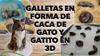 Galletas de popo de gatito y Gatito en 3D
