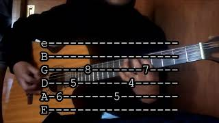 Pude- TABS/ Alejandro Fernandez tutorial guitarra thumbnail