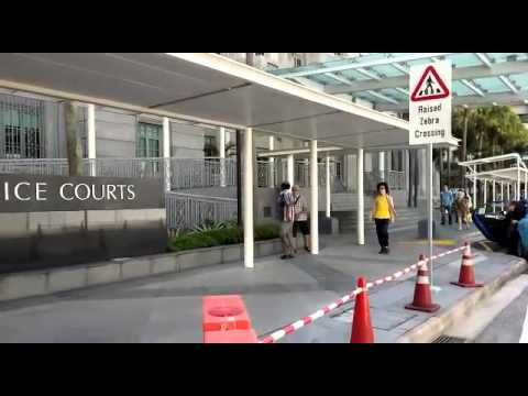 Amos Yee arriving at the State Courts on June 2, 2015
