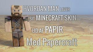 Hvordan man laver et PAPERCRAFT MINECRAFT SKIN