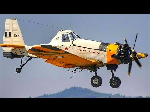 PZL M-18 Dromader | Water Drops & Landings @ Corfu Intl Airport | Plane Spotting