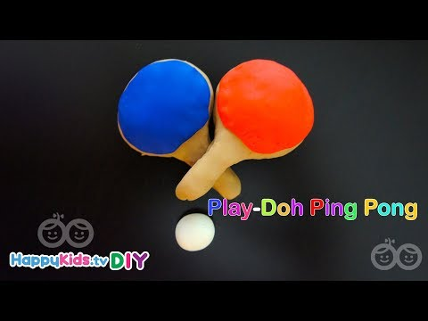 Play Doh Ping Pong  | PlayDough Crafts | Kid's Crafts And Activities | Happykids DIY