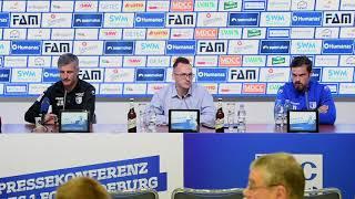 Pressekonferenz vor dem Spiel 1. FC Magdeburg gegen Arminia Bielefeld