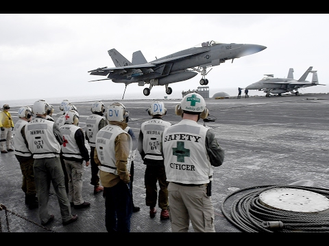 IDF Officers Visit USS George H. W. Bush at Sea, February 14, 2017