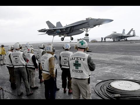 IDF Officers Visit USS George H. W. Bush at Sea, February 14, 2017