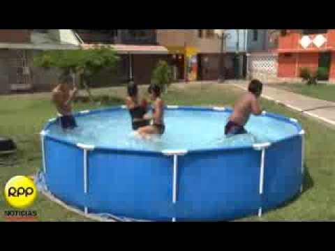 piscinas inflables invaden v a p blica en el callao youtube