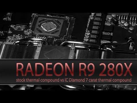 MSI Radeon R9 280X with IC Diamond 7 carat thermal compound - lowered GPU temperature