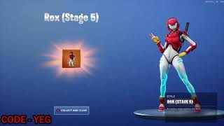 'NEW' UNLOCKING ROX STAGE 5 Outfit on Fortnite Battle Royale Saison 9