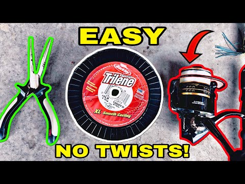 How To SPOOL A SPINNING REEL | EASY & No Line Twist!