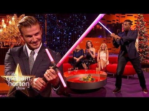 David Beckham and John Boyega Fight With Lightsabers - The Graham Norton Show