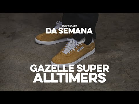 thoughts on new release latest discount Sneakers da Semana - adidas Gazelle Super X Alltimers - YouTube