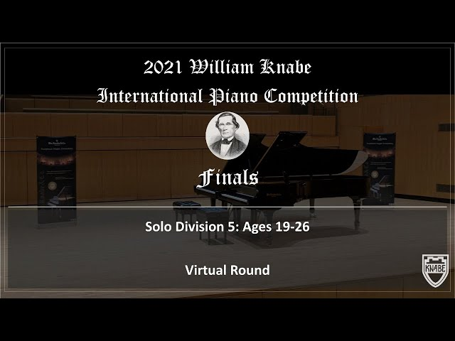 2021 WILLIAM KNABE INTERNATIONAL PIANO COMPETITION FINALS. 1:20pm-2:20pm. Finalists No. 8-10