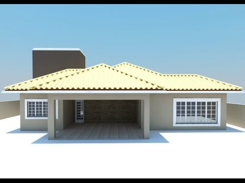 Sketchup modelo casa t rrea youtube for Modelos de casas chicas