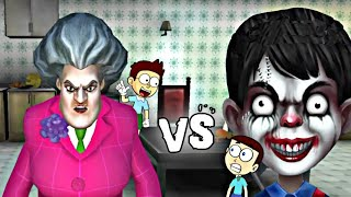 Scary Teacher 3D vs Scary Child | Shiva and Kanzo Gameplay