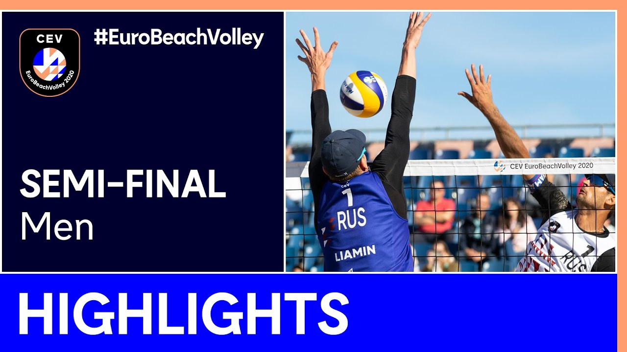 Liamin/Myskiv vs Krasilnikov/Stoyanovskiy Semi-Finals Highlights - EuroBeachVolley 2020 Men