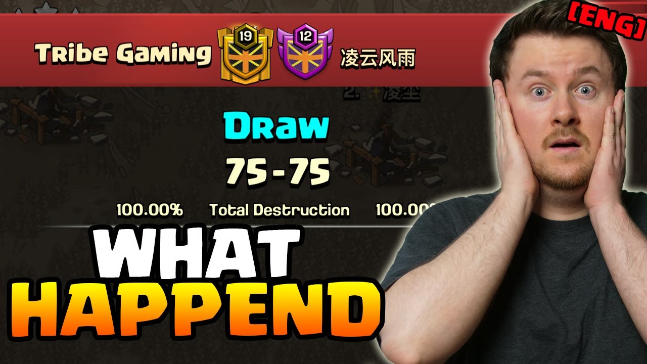 Unbelievable Result | Tribe Gaming vs Ni Chang Dance | #clashofclans