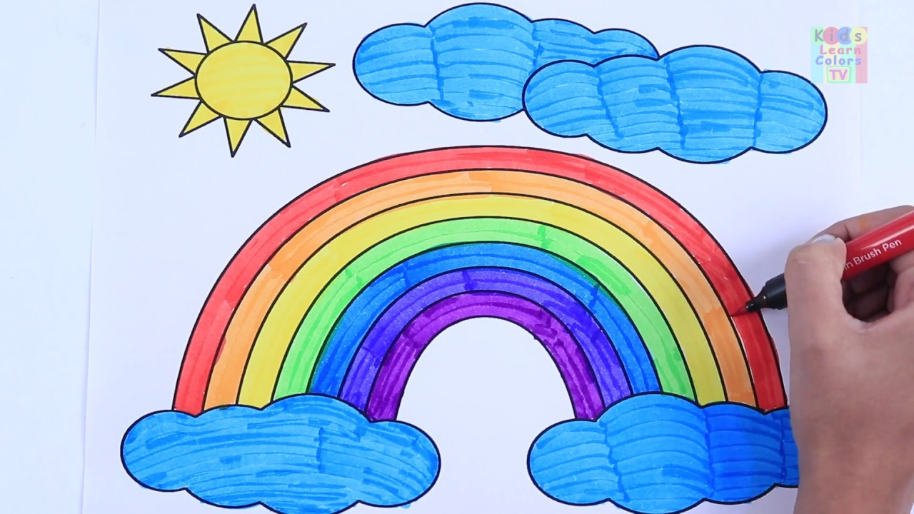 Learn Rainbow Colors For Kids Children