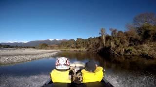 Jetboating the  Ahaura river, west coast , New Zealand